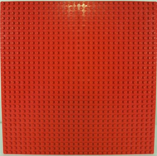Image of 1kg Bricks & Pieces – Red baseplate
