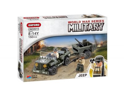 Image of Oxford - Military World War -Jeep-Trailer