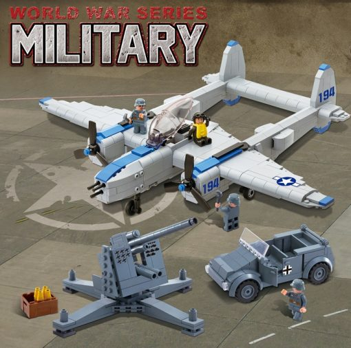 Image of Brick for Mania Military World War Series - P-38 Lightning Airplane