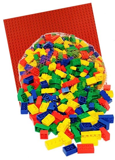 Image of 1kg Bricks & Pieces – Prime & Red baseplate