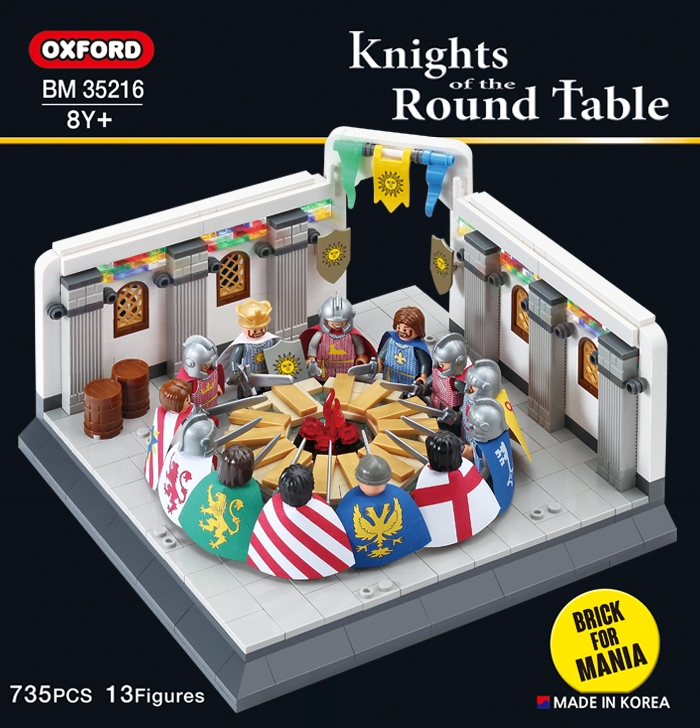 Oxford Knights of the Round Table for Mania Building Toy X-mas 658pcs BM35216