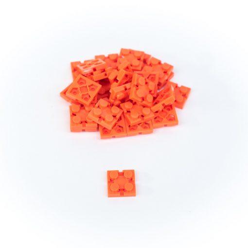 Image of Orange Flexo Bricks - 2x2 Size