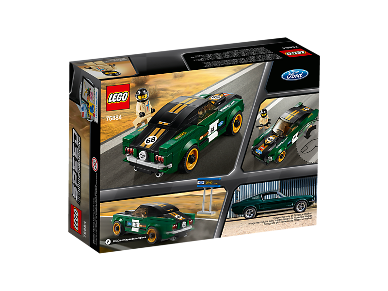lego speed champion 1968 ford mustang fastback lego. Black Bedroom Furniture Sets. Home Design Ideas